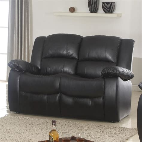 Black Reclining Loveseat by Venetian Worldwide Clarksville Black Reclining Loveseat