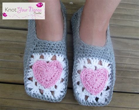 crochet house shoes knot your nana s crochet cosy crochet slippers adult