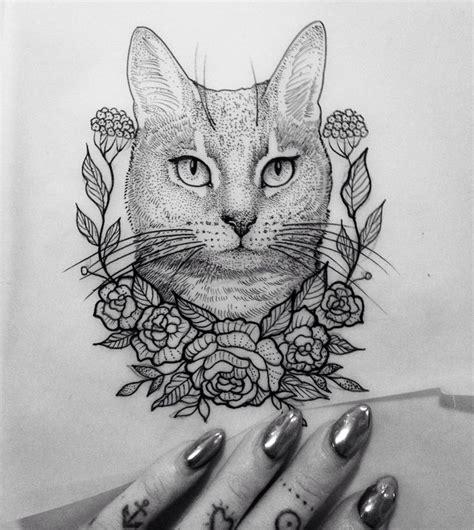 tattoo sketch cat 228 best cat tattoos images on pinterest cat tattoos