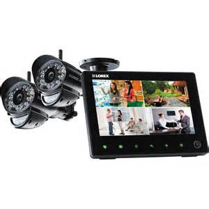 Outdoor Entertainment Systems - lorex by flir two camera surveillance system with 2 way lw2752