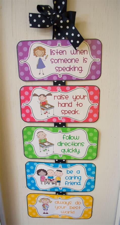 printable toddler classroom rules mrs ricca s kindergarten classroom management freebies