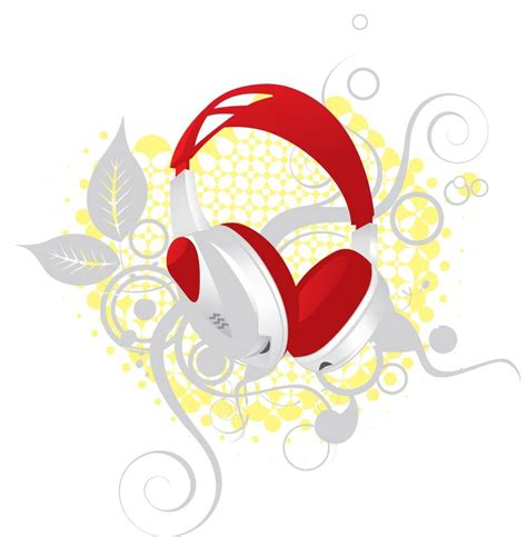 flower design headphones headphone with floral elements free vector