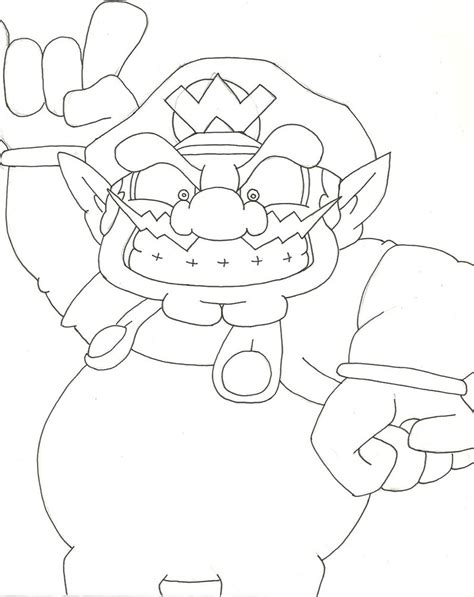 baby wario coloring pages wario coloring coloring pages