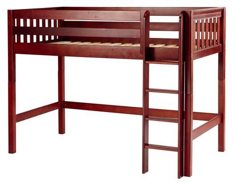 mid loft bed chestnut mid loft bed by maxtrix kids slat 400 0
