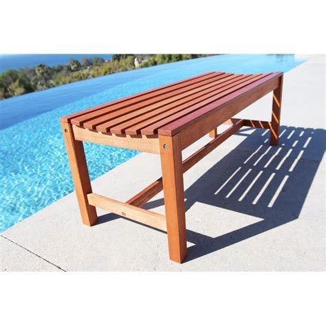 backless outdoor bench backless outdoor bench in natural v1640