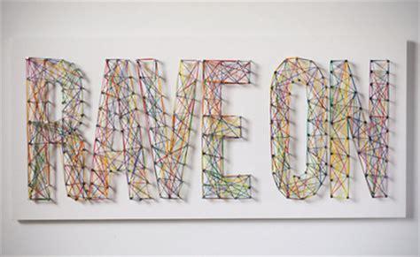 String Typography - letras de hilo para tus paredes decoraci 243 n de interiores