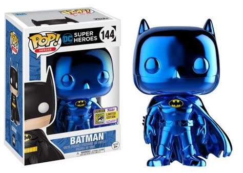 Funko Pop Dc Justice League 2017 Batman sdcc 2017 exclusive funko pop heroes dc heroes 144 blue chrome batman tokyo