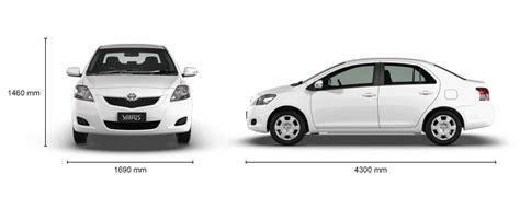 Toyota Yaris Sedan Length Yaris Yrs 4 Door Sedan Auto Specifications
