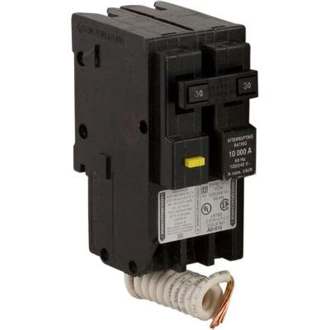 square d homeline 30 amp two pole gfci circuit breaker hom230gfic the home depot