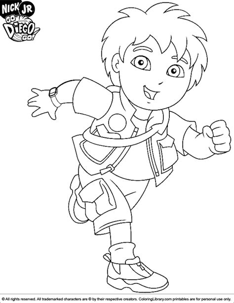 Go Diego Go Coloring Picture Go Coloring Pages
