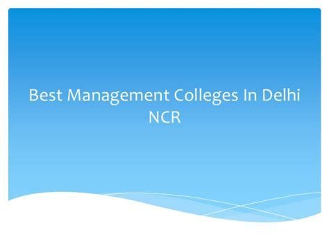 Top 10 Mba Colleges In Delhi Ncr by Best Management Colleges In Delhi Ncr