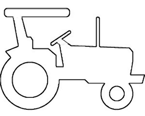 Tractor Cut Out Templates farm tractor clipart cliparts co