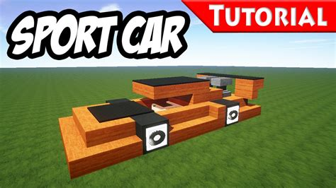 minecraft sports car minecraft easy sport race car tutorial style