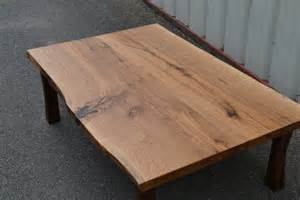 Unfinished Kitchen Islands live edge white oak coffee table with curved walnut legs
