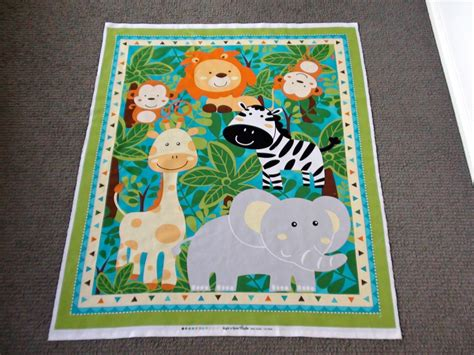 Cot Panels For Quilting by Jungle Animal Fabric Panel Nursery Cot Panel Baby Quilt