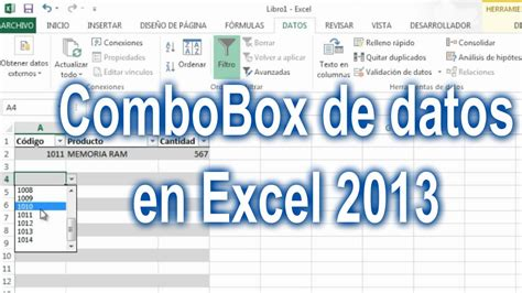 tutorial excel dostin hurtado combobox de datos en excel 2013 funnycat tv