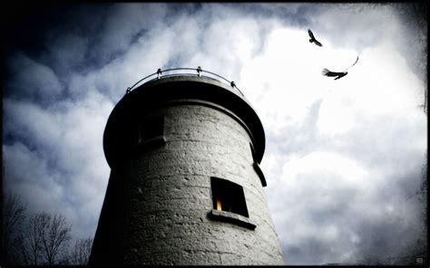 tower and crows wallpapers and images wallpapers
