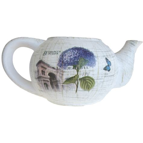 Large Teapot Planter by Large Teapot Planter With Saucer G D Home Quality