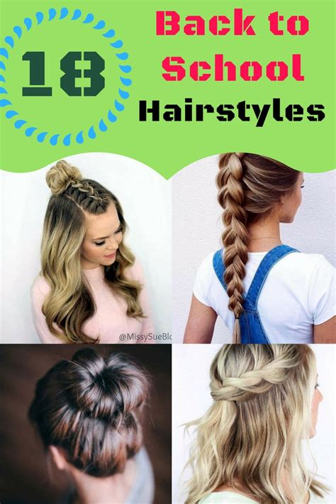 back to school hairstyles for hair back to school hairstyles 18 easy hairstyles for