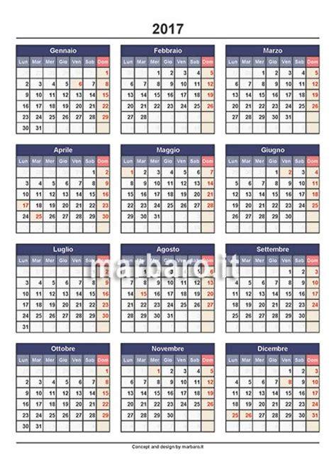 Calendario Festività 2017 Calendario Annuale 2017 Stabile Con Le Festivit 224