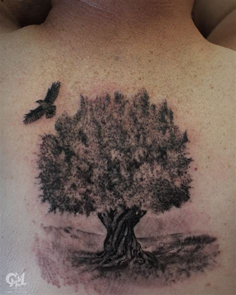 olive tattoo olive tree by capone tattoonow