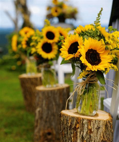 sunflower theme weddings topweddingsites