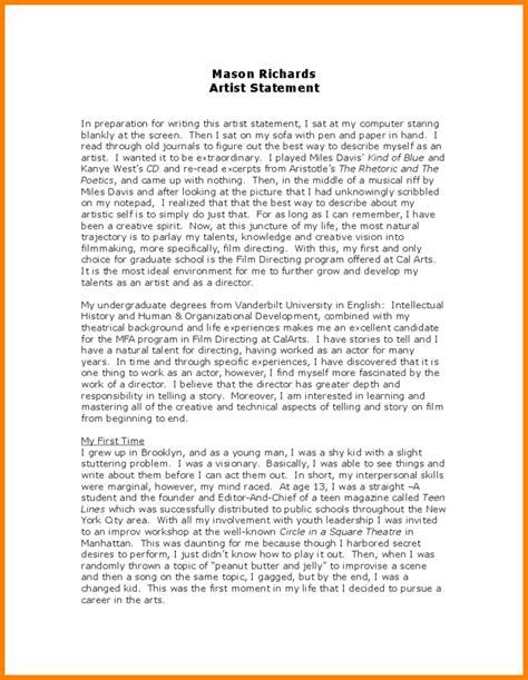 4 sample artist statement newborneatingchart