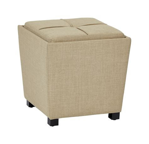 Ottoman With Tray Top 2 Ottoman Set With Tray Top In Milford Maize Fabric Ergoback