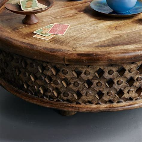 carved wood coffee table carved wood coffee table elm