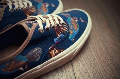 Sepatu Kanvas Blue Navy Motif Kancing Vans California Authentic Quot Birds Quot Pack Sole Collector