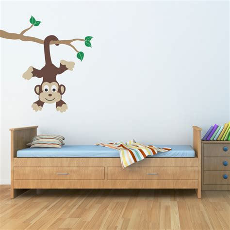 kids decals for bedroom walls monkey bedroom wall decals
