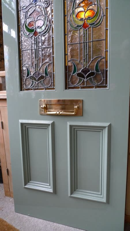 The Stained Glass Doors Company Nouveau Stained Glass Door Front Door Stained Glass Doors Company