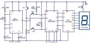 74ls192 counter based a simple scoring game circuit