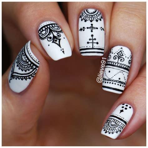 henna design nail art henna inspired nails lieve91 nail art pinterest