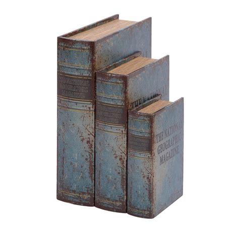 decorative christmas book boxes uma decorative book boxes set of 3 59372 the home depot