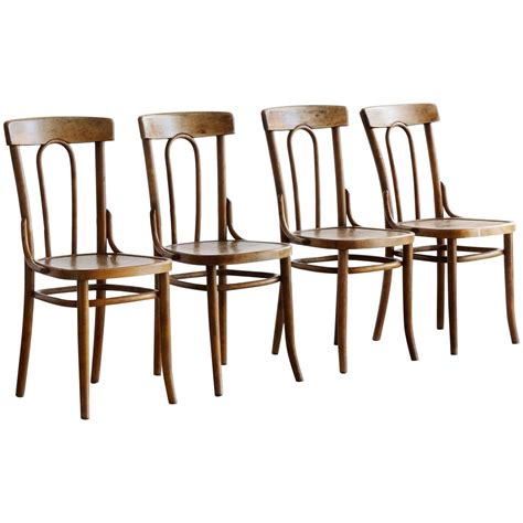 Thonet Bistro Chair Early Thonet Bistro Chairs Set Of Four At 1stdibs
