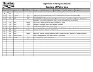 Security Officer Report Template by Security Officer Daily Log Template Exle Patrol Log
