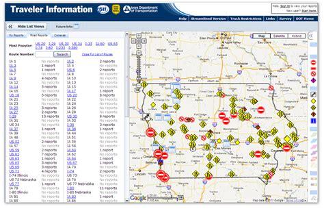 iowa road conditions color map 511 iowa traffic map danielrossi