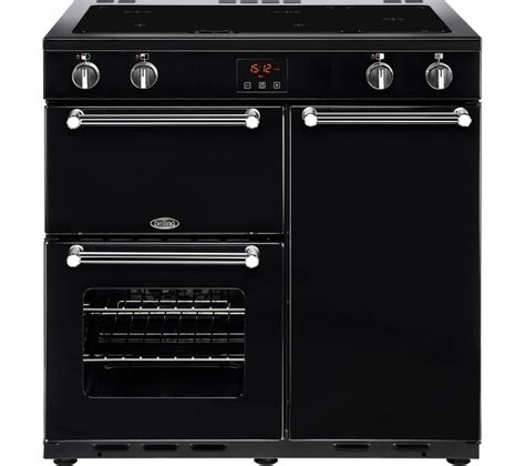 electric induction range cookers buy belling kensington 90 cm electric induction range cooker black chrome free delivery