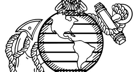marine corps emblem coloring pages for the kids