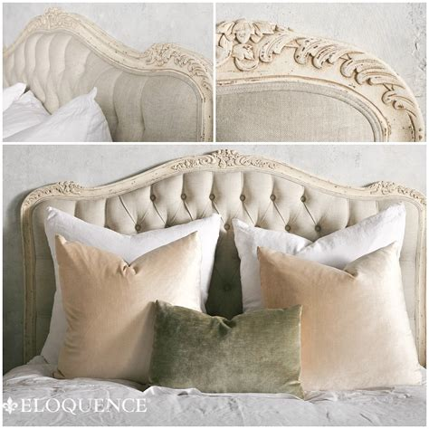 White Tufted Headboard Eloquence Weathered White Tufted Headboard