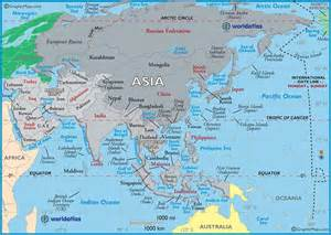 Asia On World Map by Atlas On World Map Images