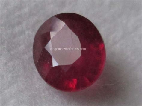 Madagascar Ruby Glass Filled Oval rbg 005 adegems