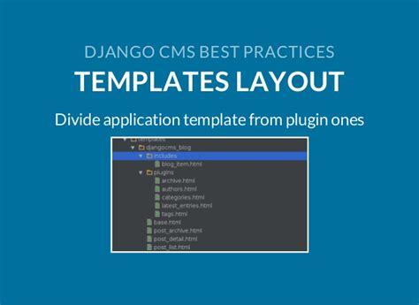 best practices template django cms best practices