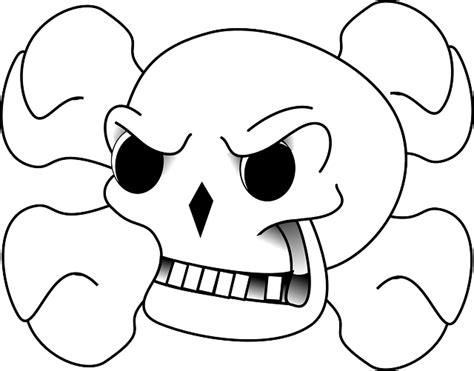 cartoon skull coloring page free coloring pages of cartoon skull