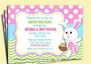 easter chevron polka dot invitation printable or printed with free shipping easter egg hunt