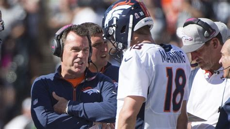 peyton manning bench press is it time to bench peyton manning gary kubiak gives his
