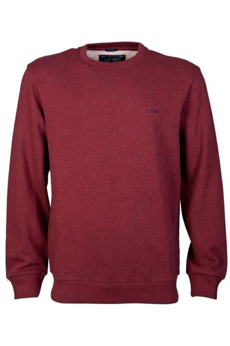 comfortable sweatshirts armani jeans comfort fit sweatshirt in black grey burgundy