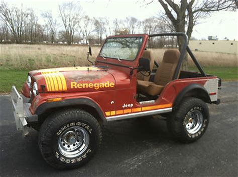 1980 Jeep Cj5 For Sale Jeep Cj Renegade 1980 Jeep Cj5 For Sale 0 00