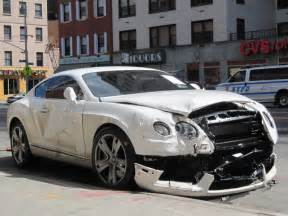 Bentley Vehicle Another Wrecked Bentley Just One Of Nyc S Many Car Crashes